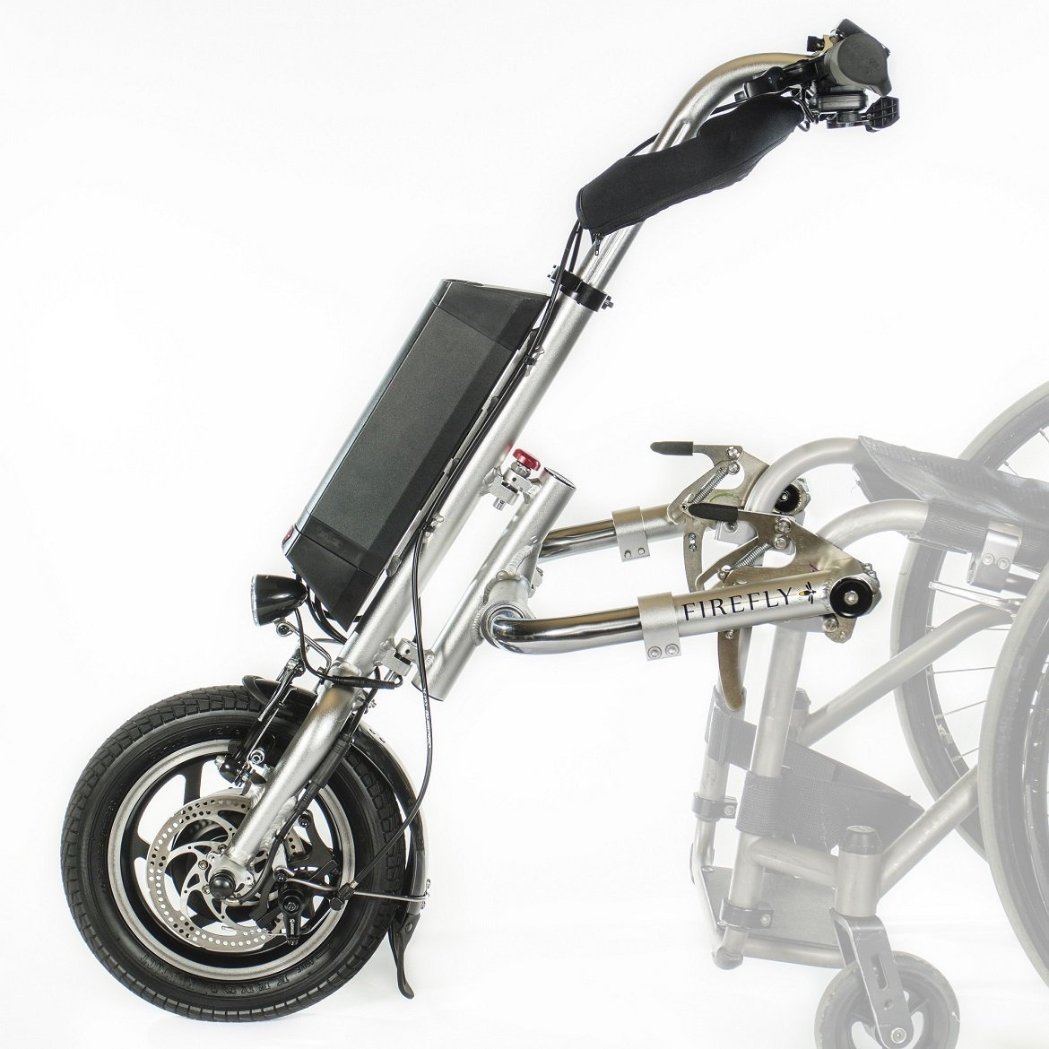 attachable wheelchair motor handcycle