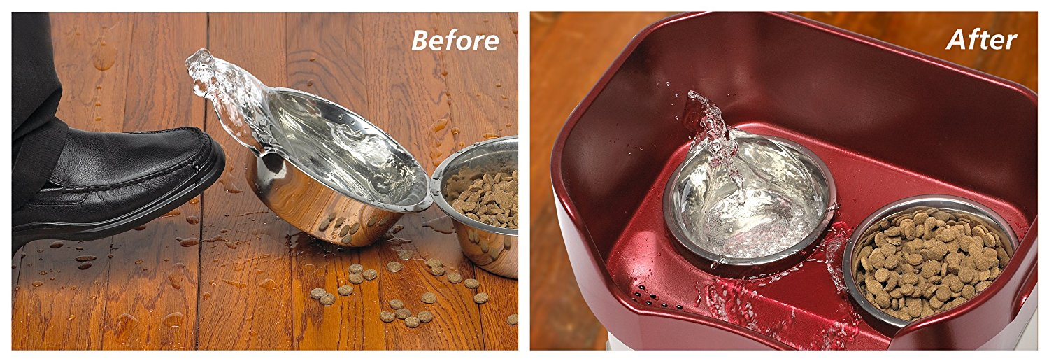 no spill pet feeder